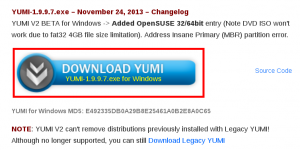 Download YUMI link screenshot