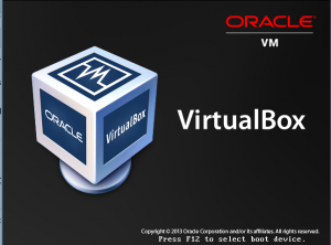 VirtualBox BIOS - Press F12 screenshot
