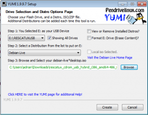 Yumi - Step 4 - Click on create button screenshot