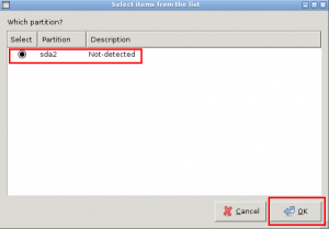 Select Windows partition