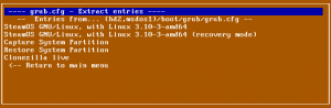 Super Grub2 Disk 2.01 beta 3 grub.cfg Extract entries option