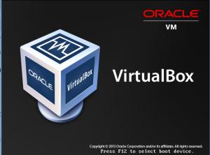 VirtualBox BIOS - Press F12 screenshot