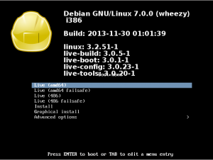 Rescatux Isolinux based Boot screen screenshot