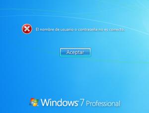 Windows denies login because password user is incorrect