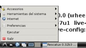 LXDE start menu in Spanish thanks to Rescatux 0.32 beta 3 greeter