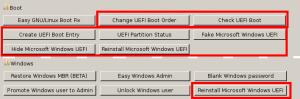 Rescatux 0.41 beta 1 new options